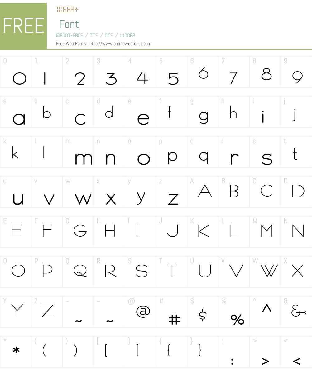 Persnickety Font Screenshots