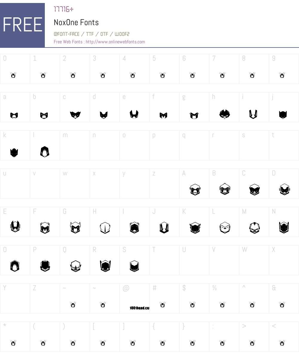 NoxOne Font Screenshots