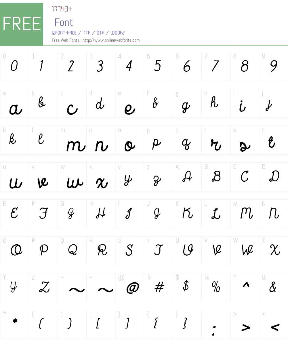 CatalinaScriptW00-BoldIt Font Screenshots