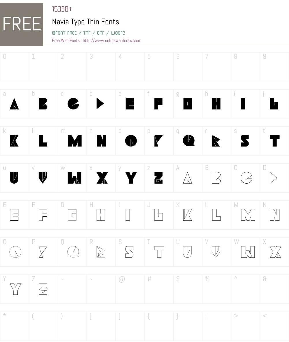 Navia Type Font Screenshots