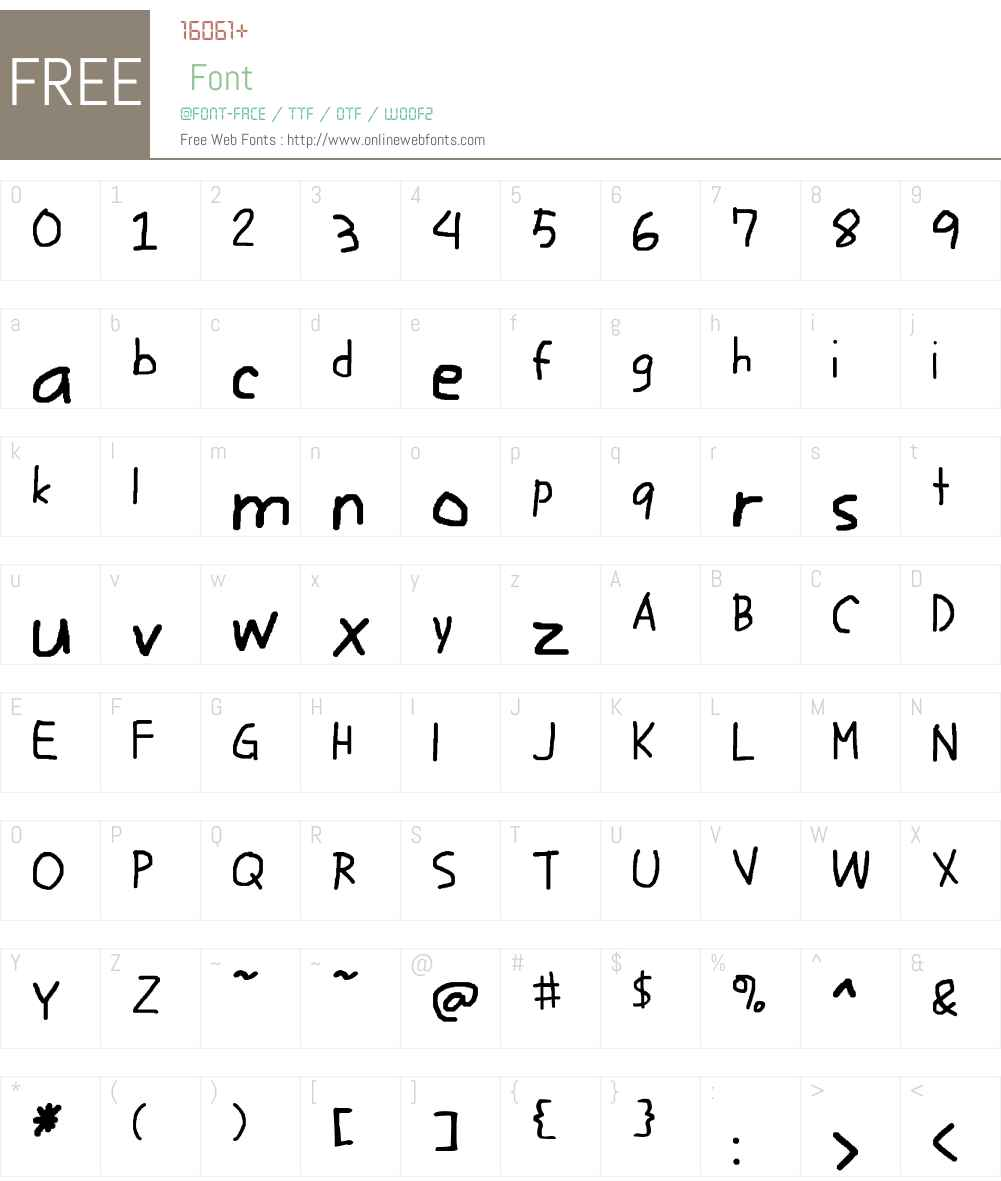 Writico Font Screenshots