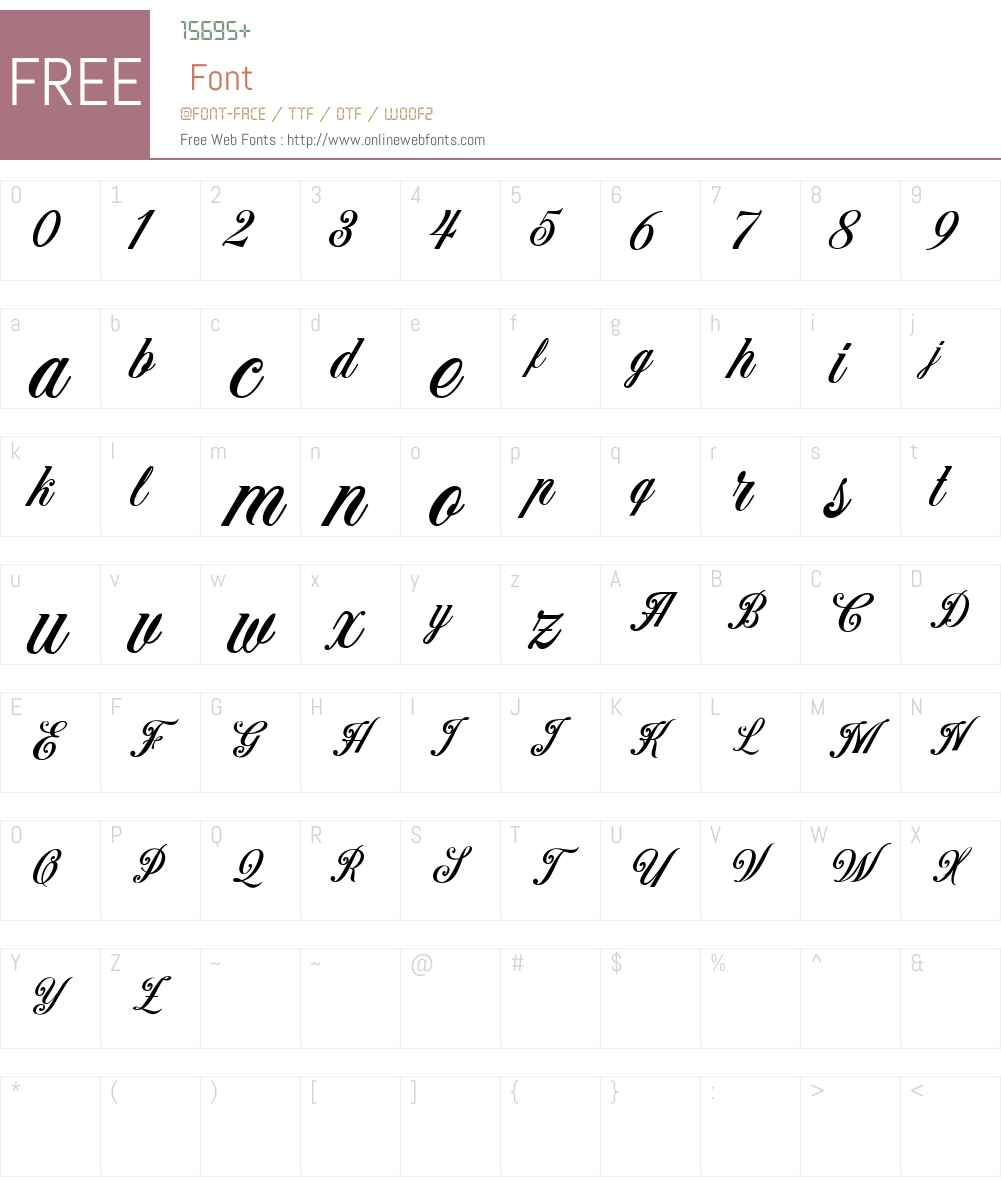 Benford DEMO Font Screenshots