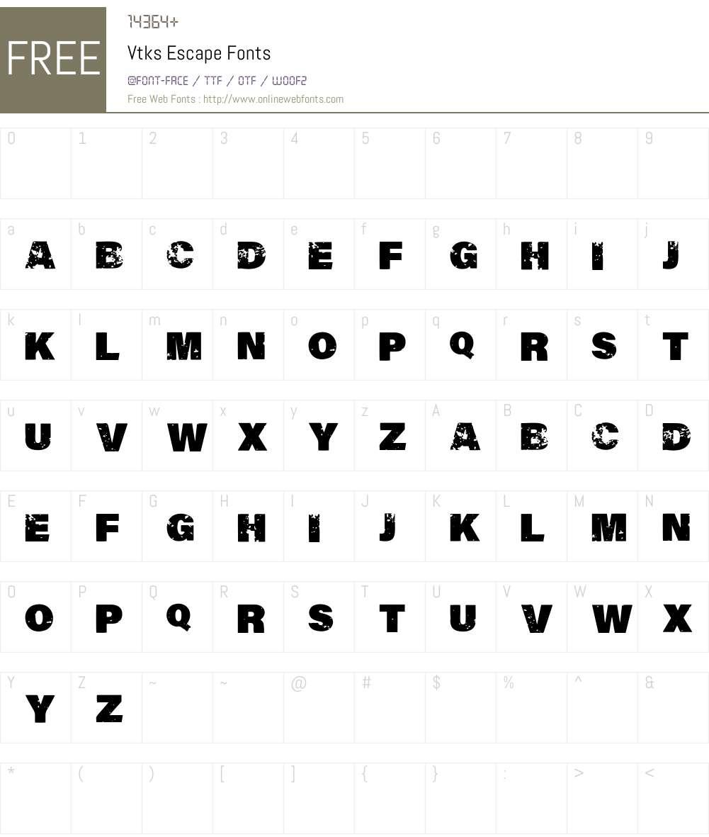 Vtks Escape Font Screenshots