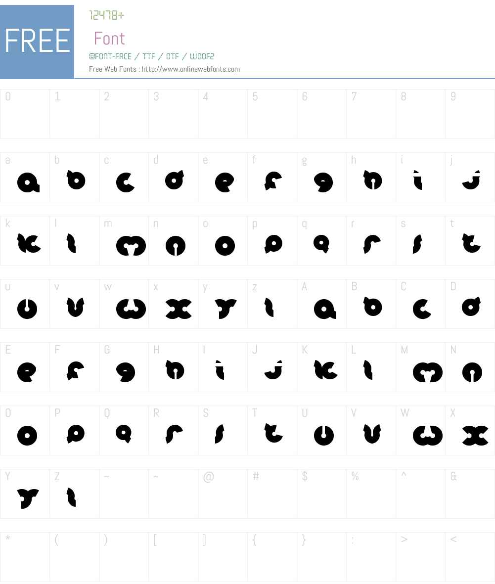 onion rings Font Screenshots