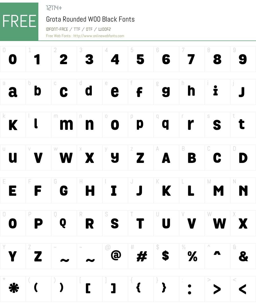 GrotaRoundedW00-Black Font Screenshots