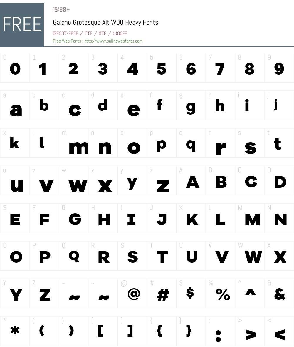 GalanoGrotesqueAltW00-Heavy Font Screenshots