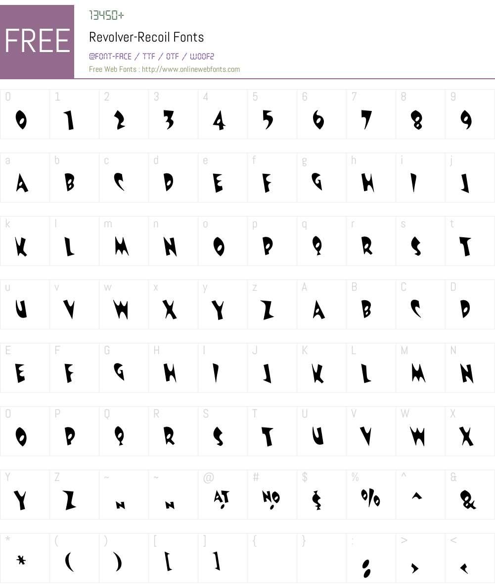 Revolver Font Screenshots