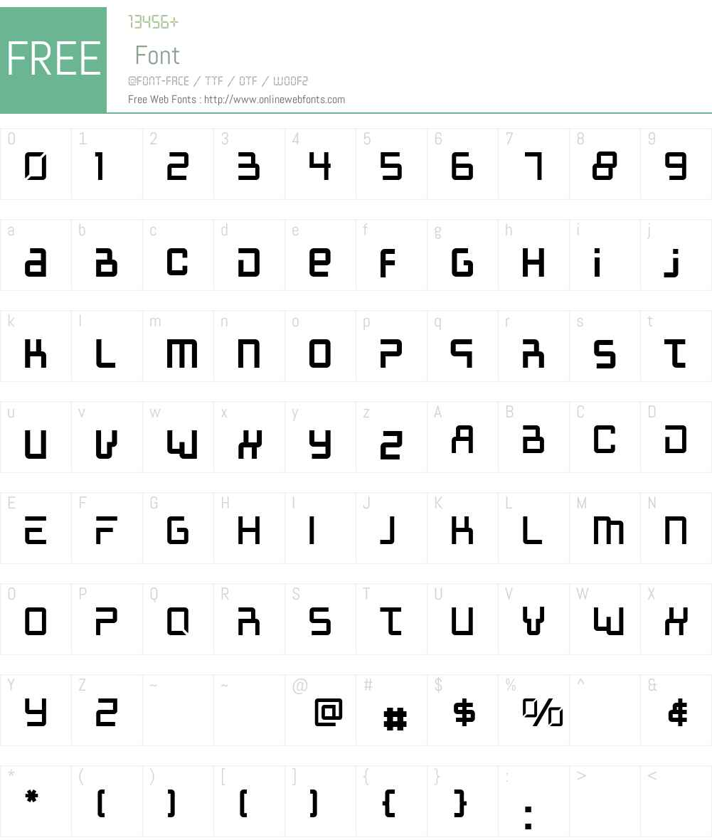 McAlberto Font Screenshots