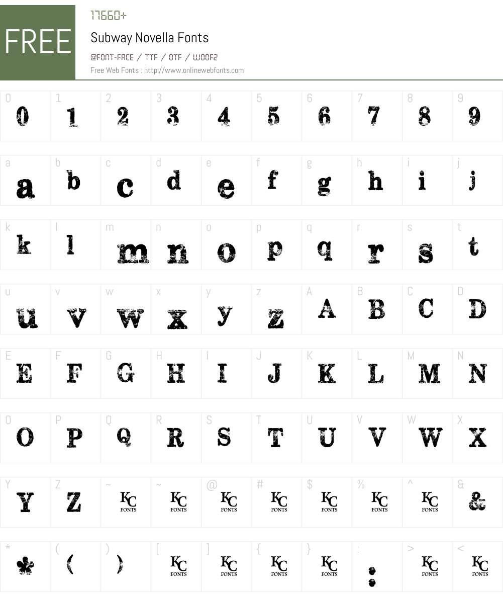 Subway Novella Font Screenshots