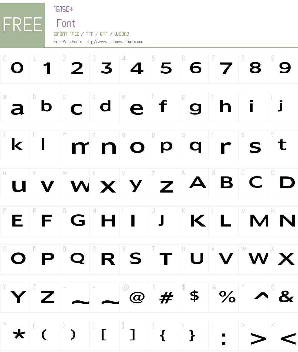 Humana Wd Font Screenshots