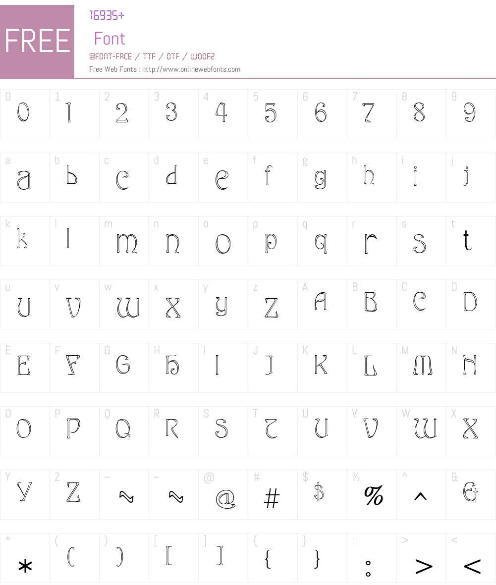 Edda Font Screenshots