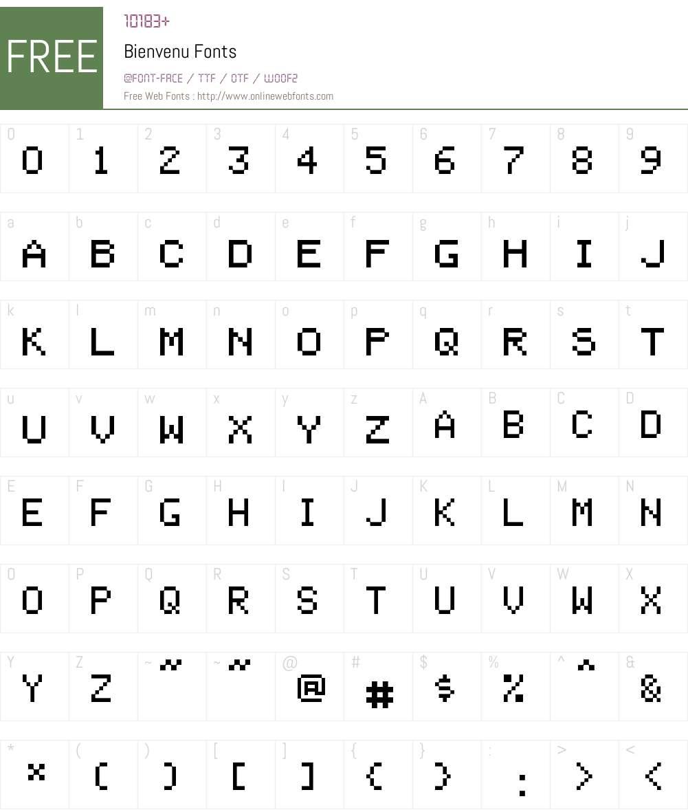Bienvenu Font Screenshots
