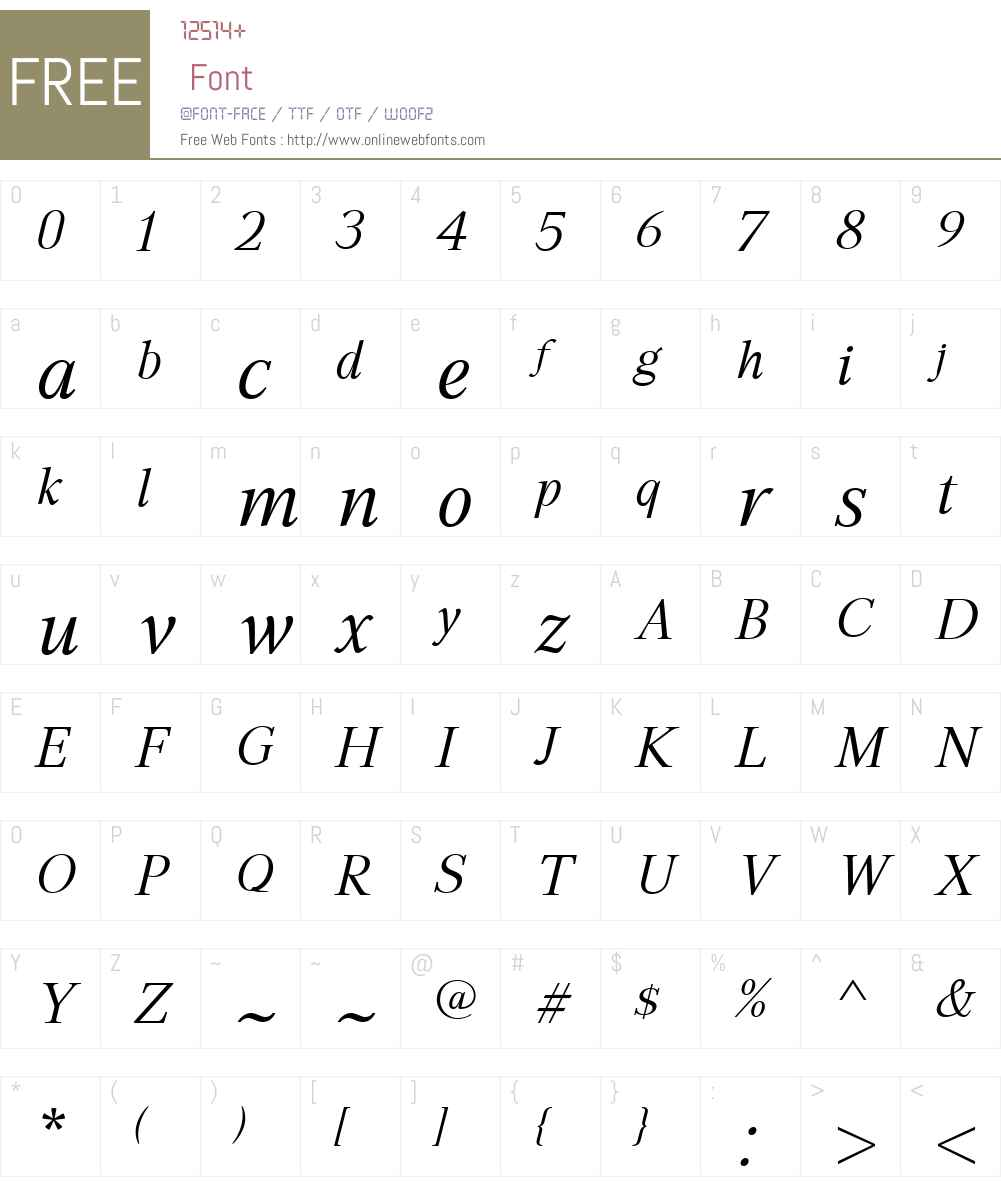 GHEAAspetW01-BookItalic Font Screenshots
