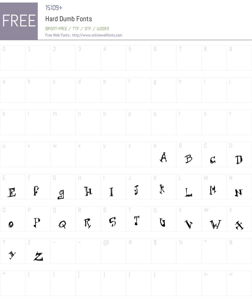 Hard Dumb Font Screenshots