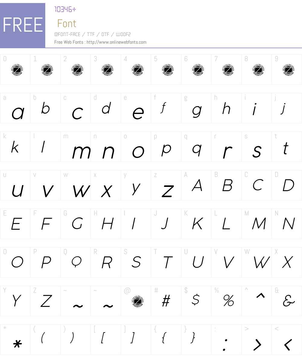 Coco Gothic Font Screenshots