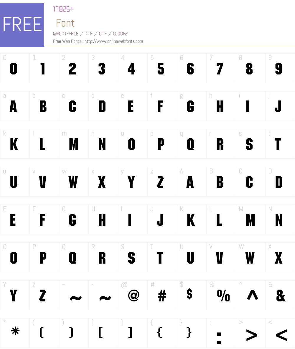 ITC Machine Font Screenshots