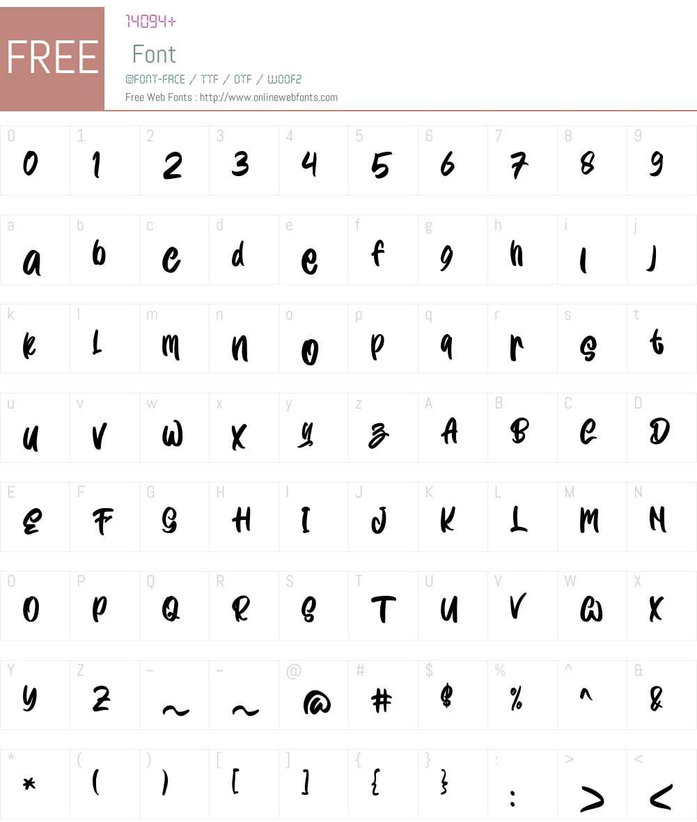 Wayslake Font Screenshots