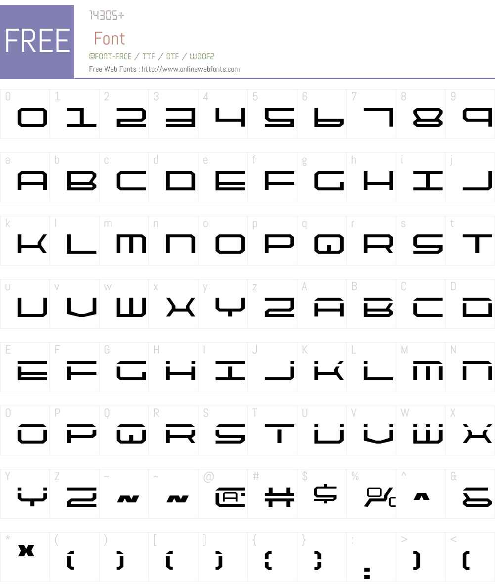 QuickTech Font Screenshots