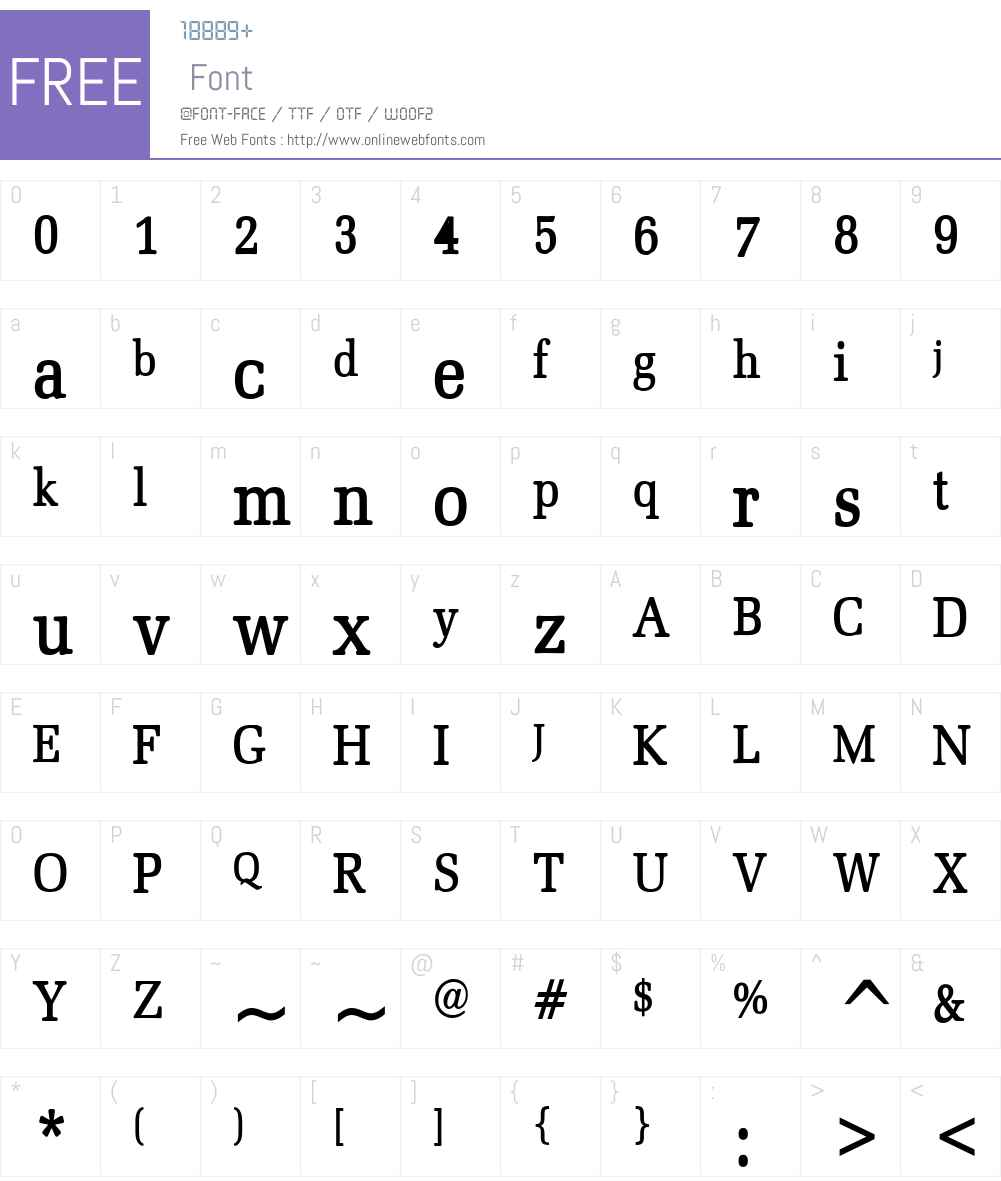 Bid Roman Condensed Font Screenshots