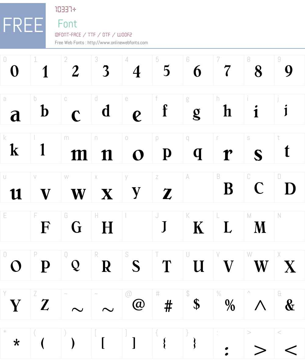 BelliniMediumCondensed Font Screenshots