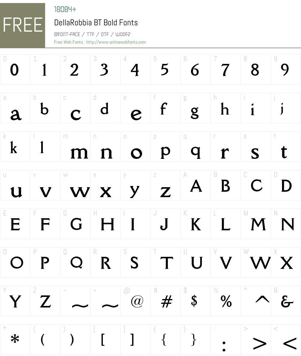 DellaRobbia BT Font Screenshots