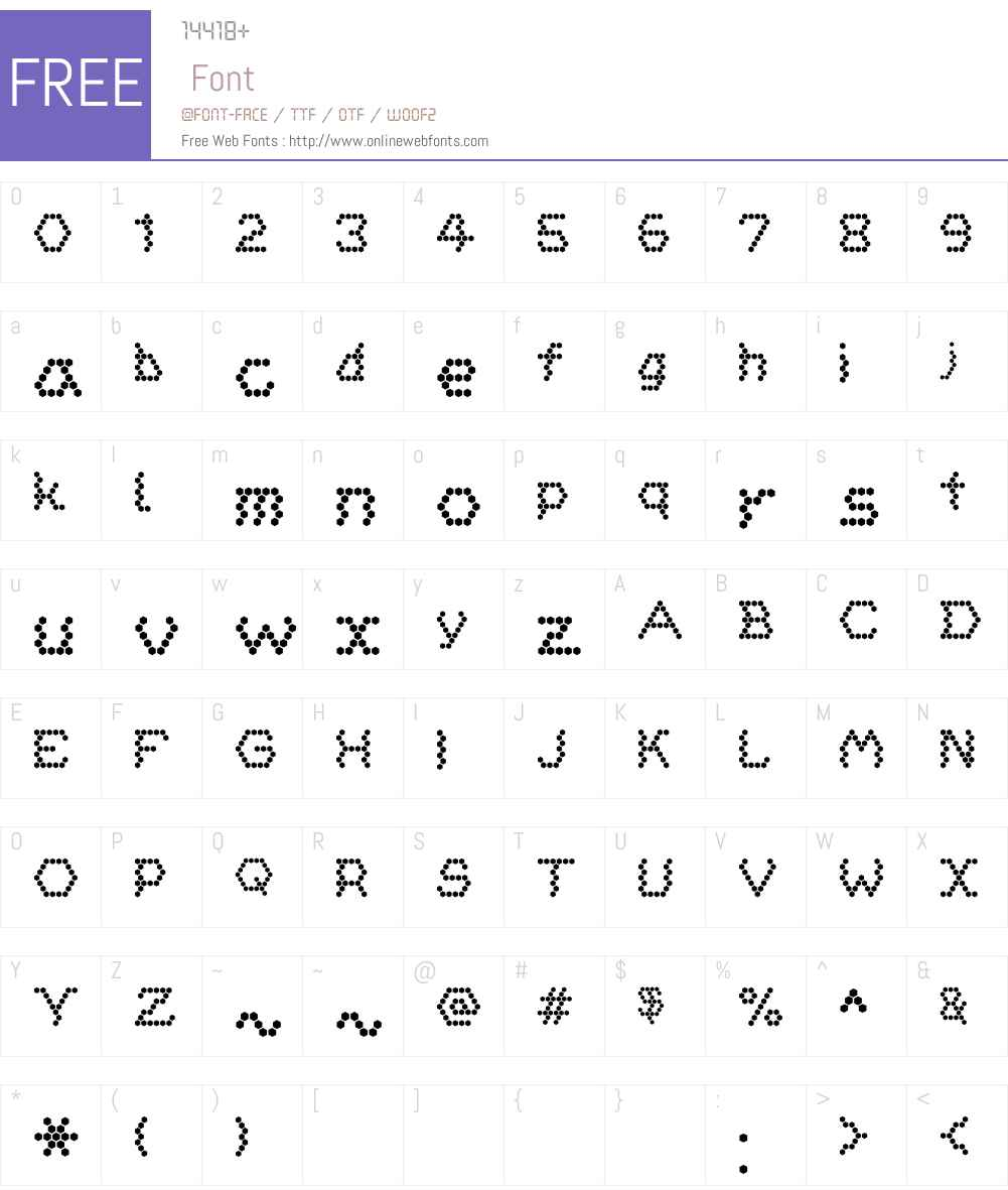 HoneycombReg Font Screenshots