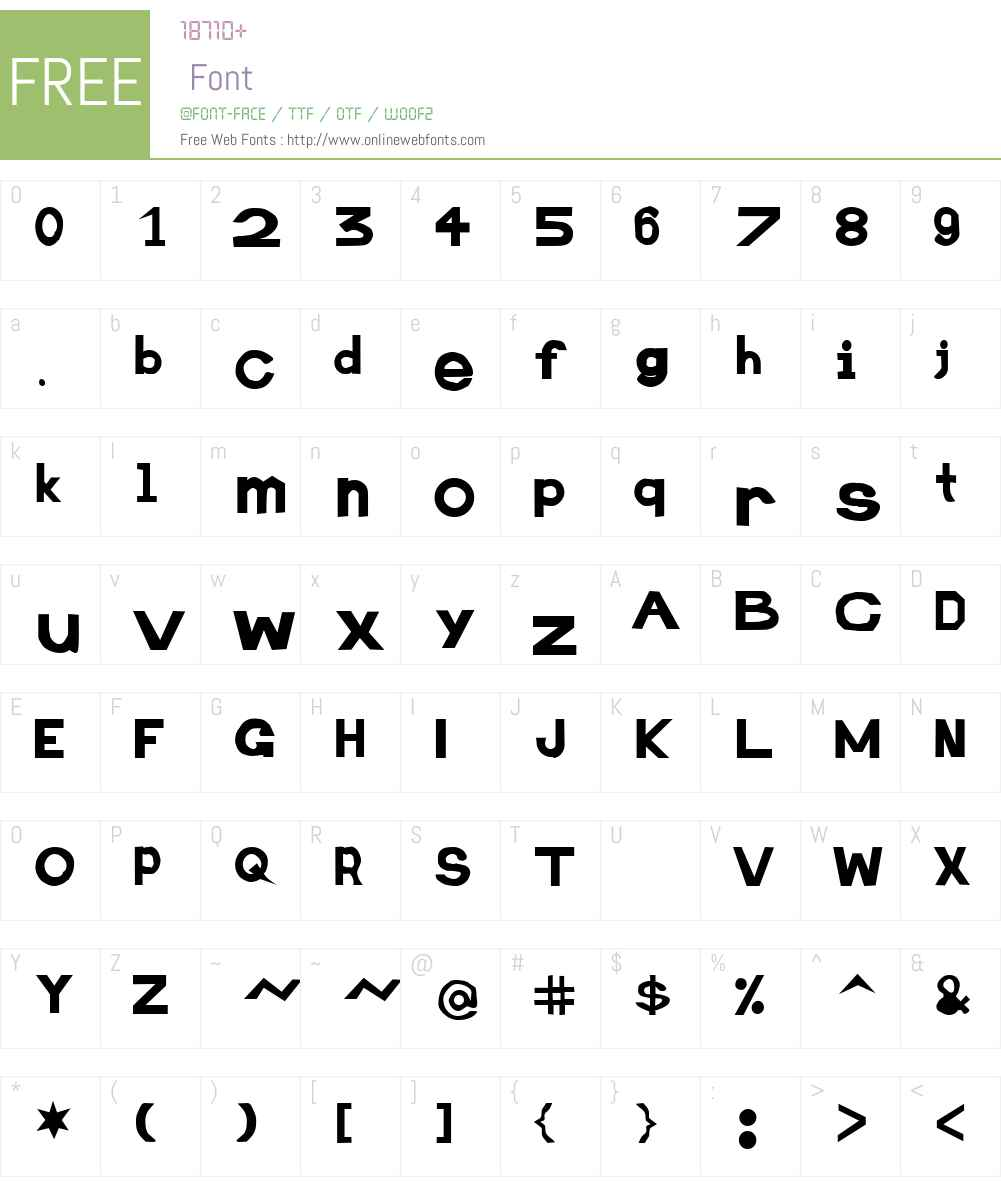 Retardo Obese Font Screenshots