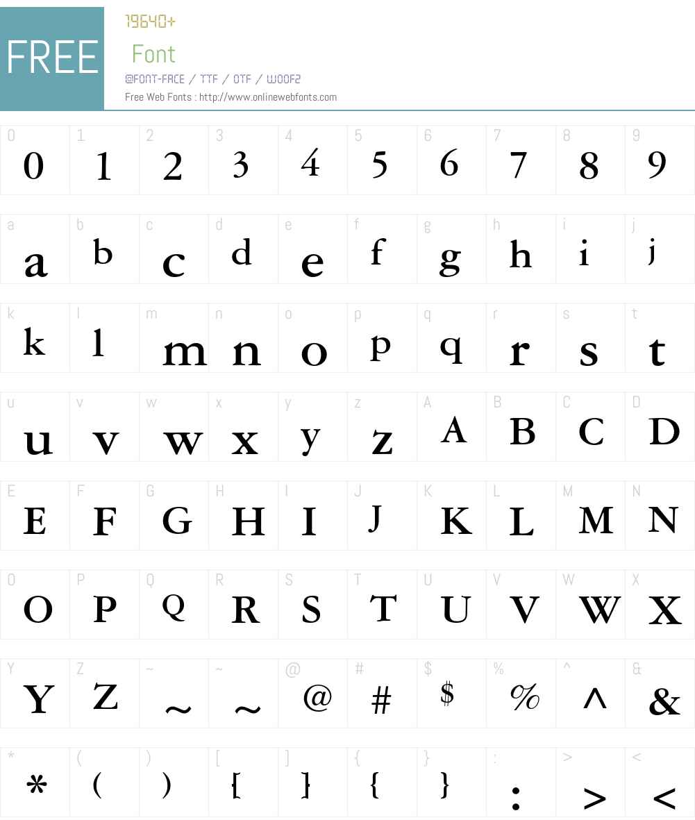 Garamond 3 LT Std Font Screenshots