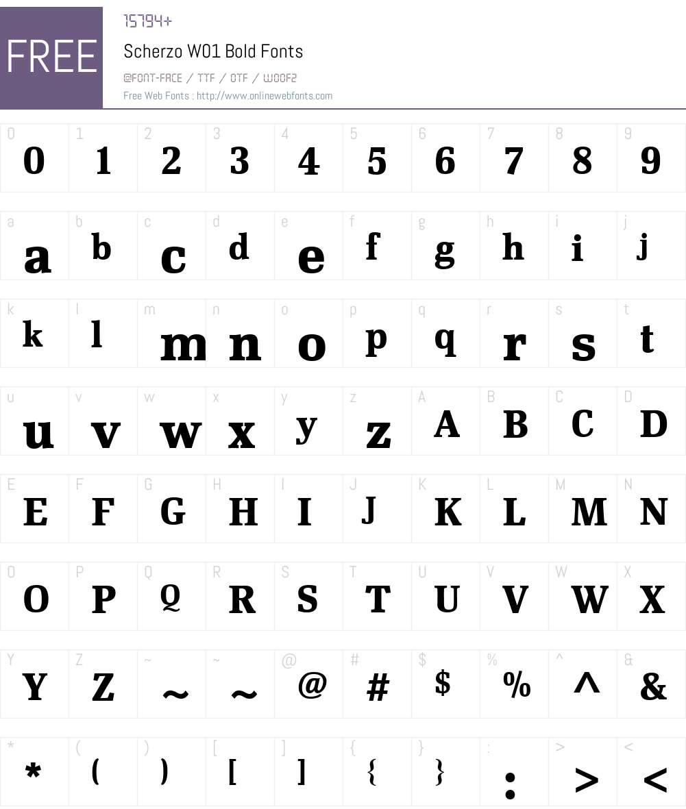 ScherzoW01-Bold Font Screenshots