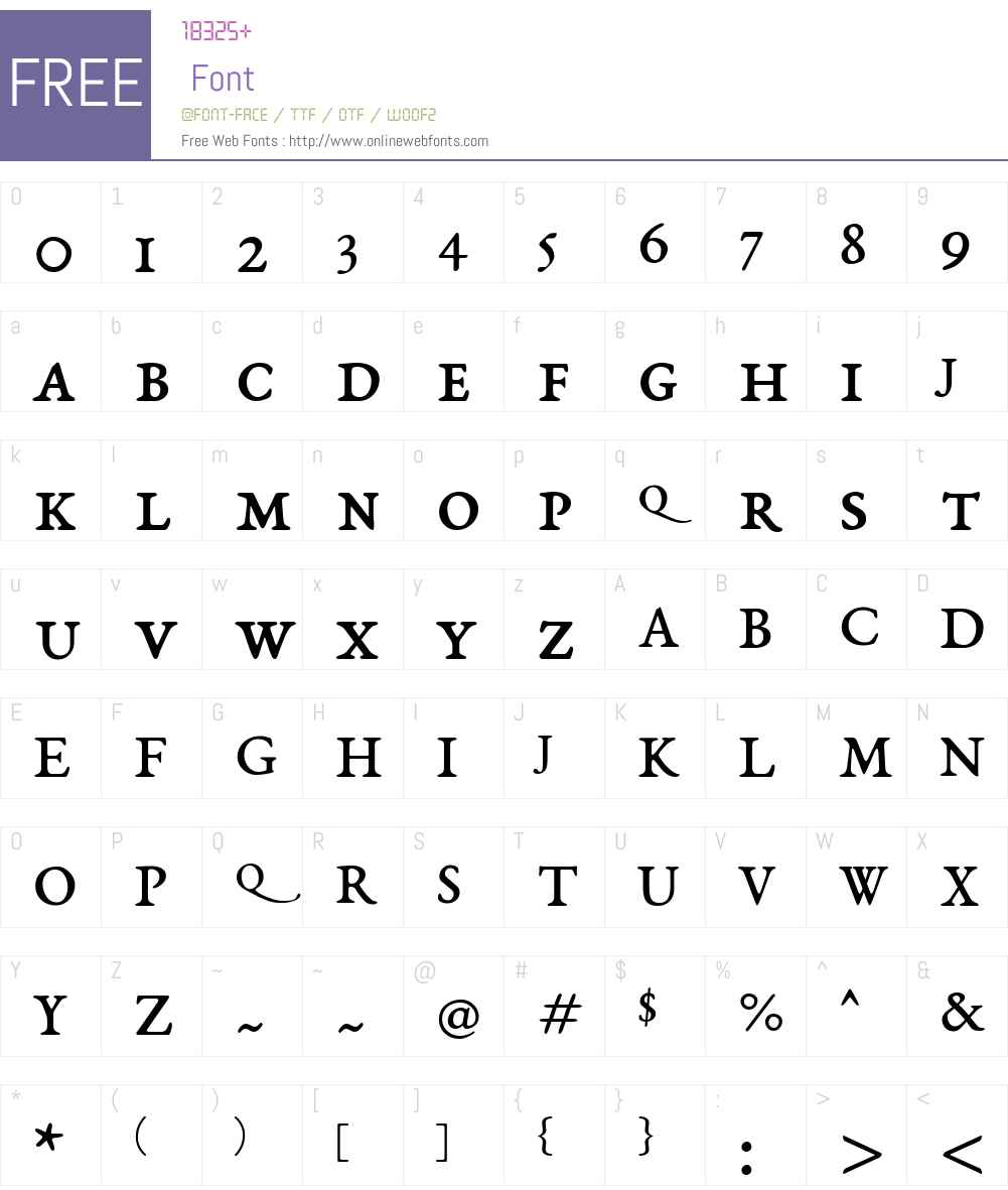 EB Garamond SC 08 Font Screenshots