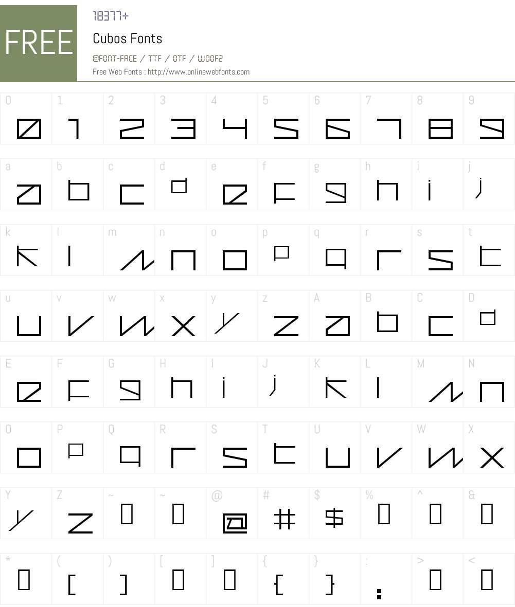Cubos Font Screenshots