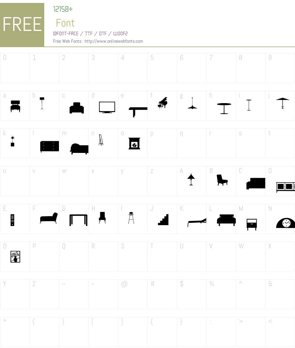HomeSweetHomeW95-Dingbats Font Screenshots
