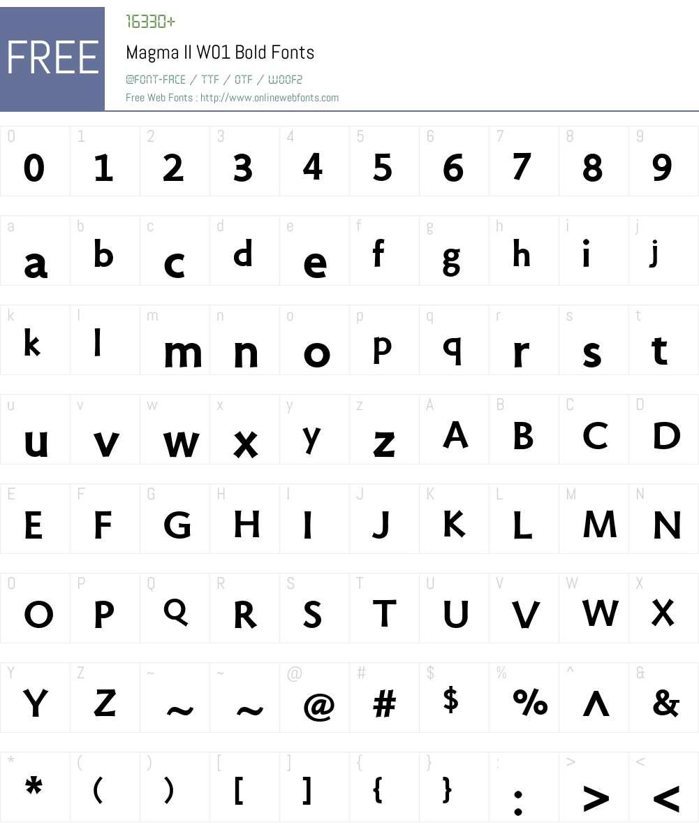 MagmaIIW01-Bold Font Screenshots