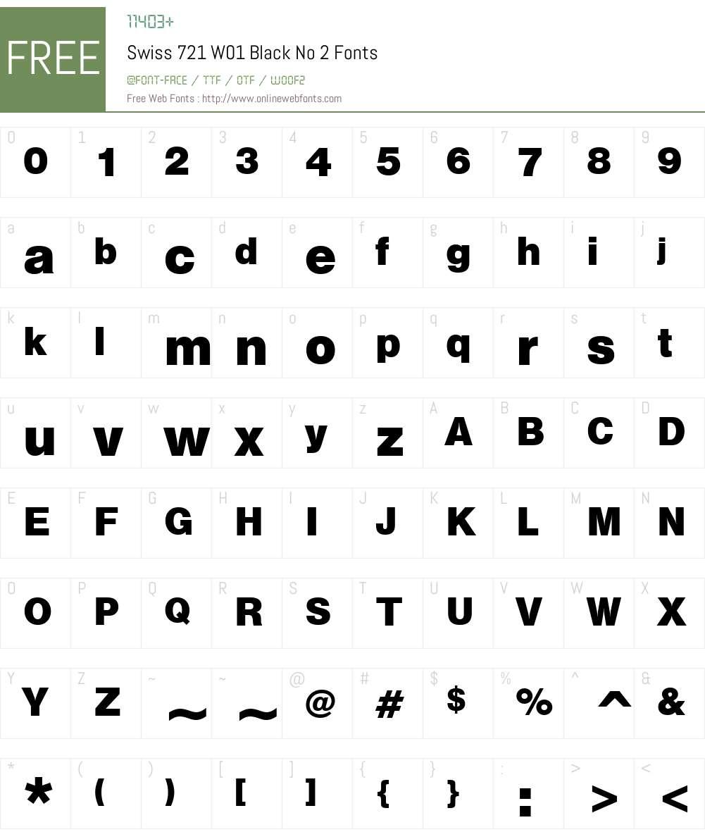 Swiss721W01-BlackNo2 Font Screenshots