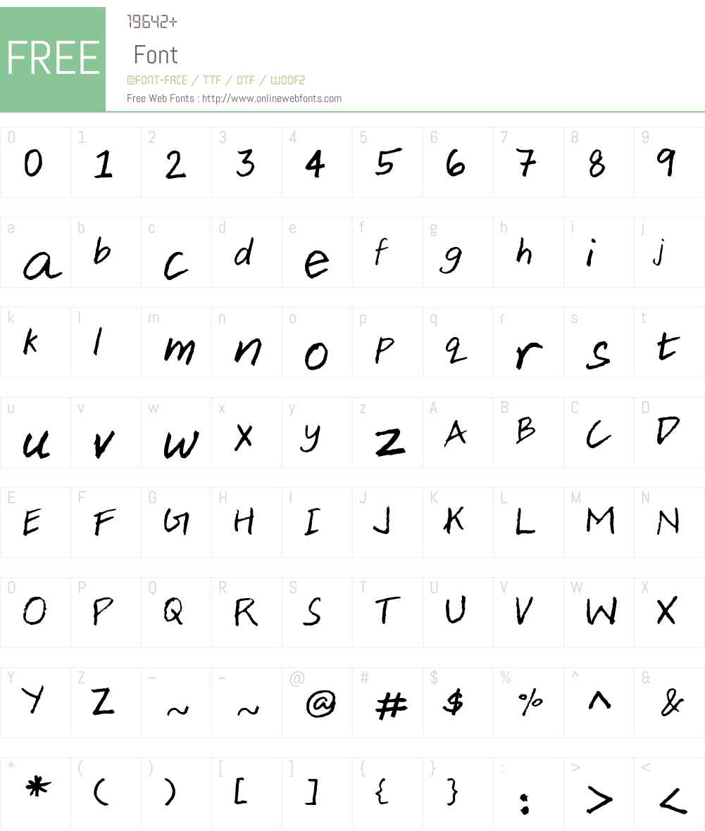 Aji Hand Font Screenshots