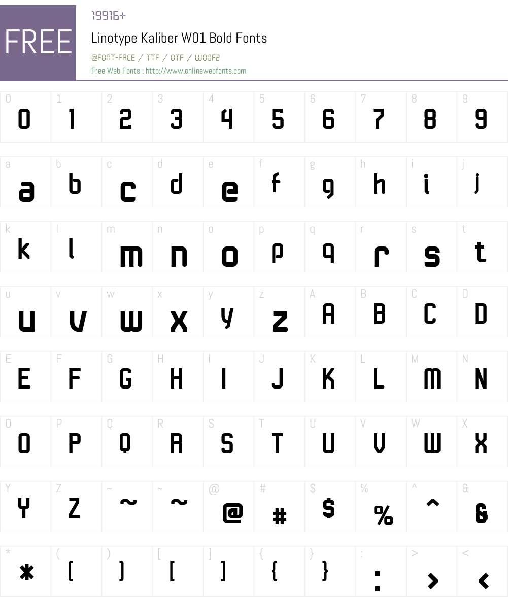 LinotypeKaliberW01-Bold Font Screenshots
