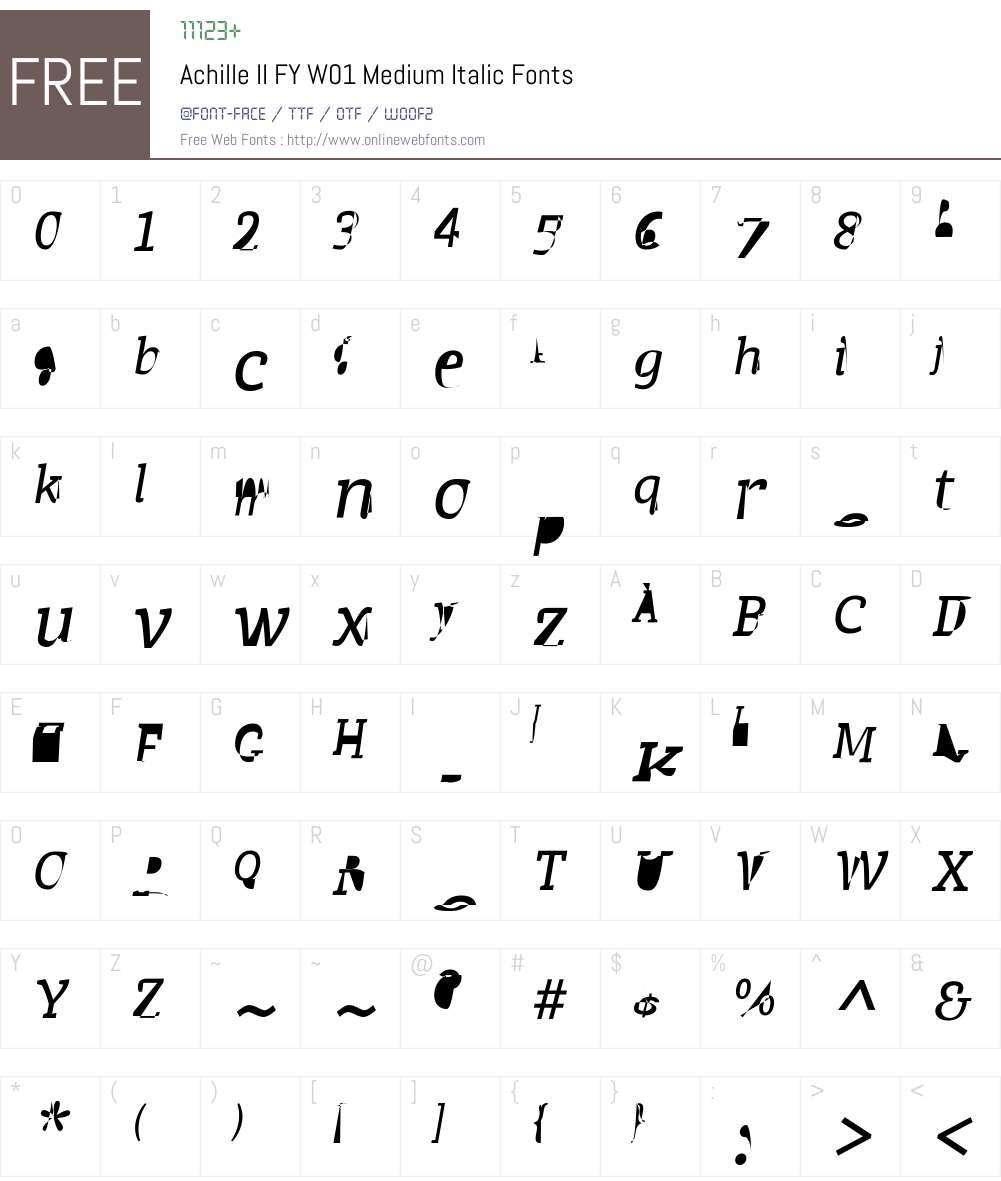 AchilleIIFYW01-MediumIt Font Screenshots