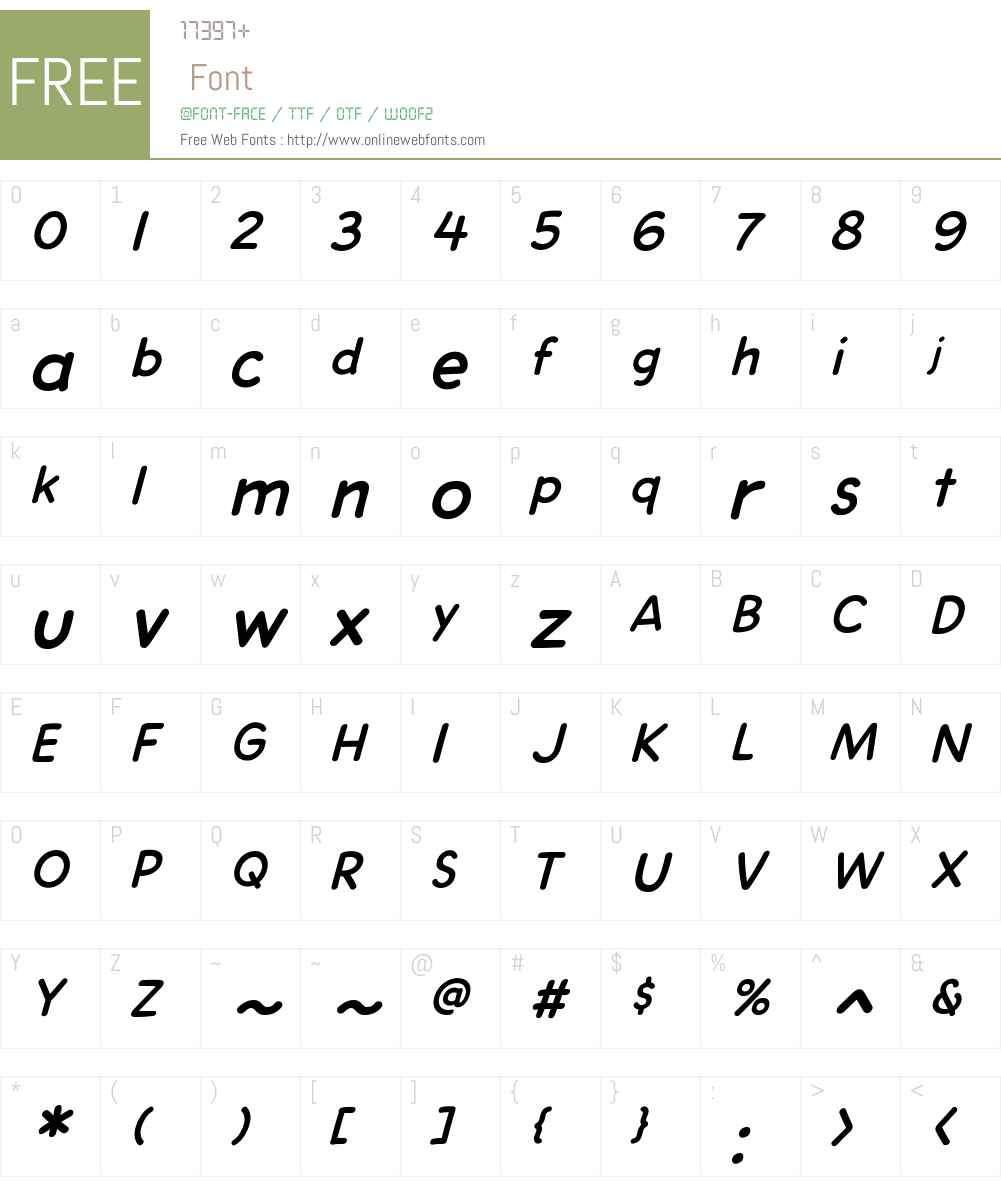 CCDashDecentW00-Italic Font Screenshots