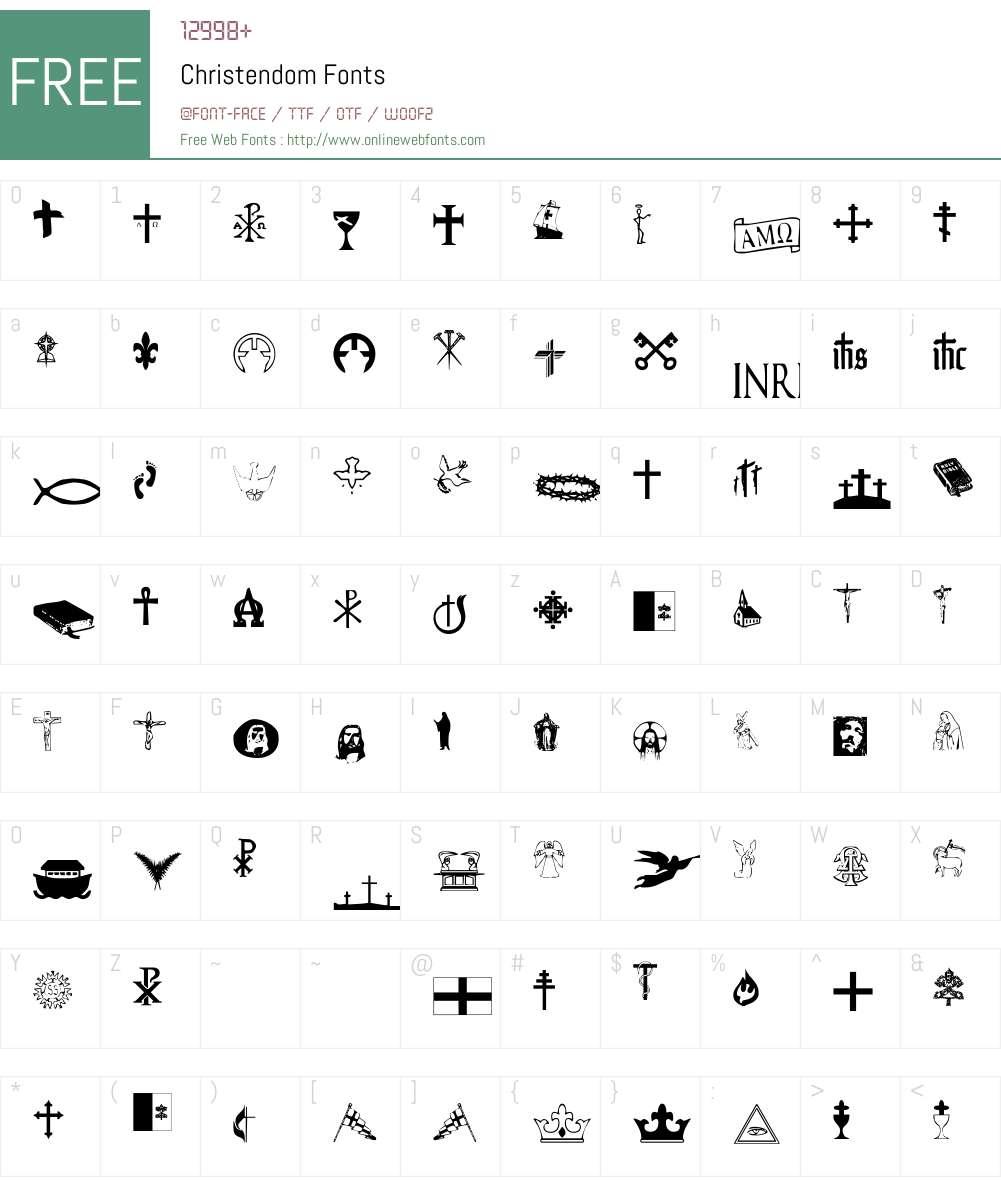 Christendom Font Screenshots