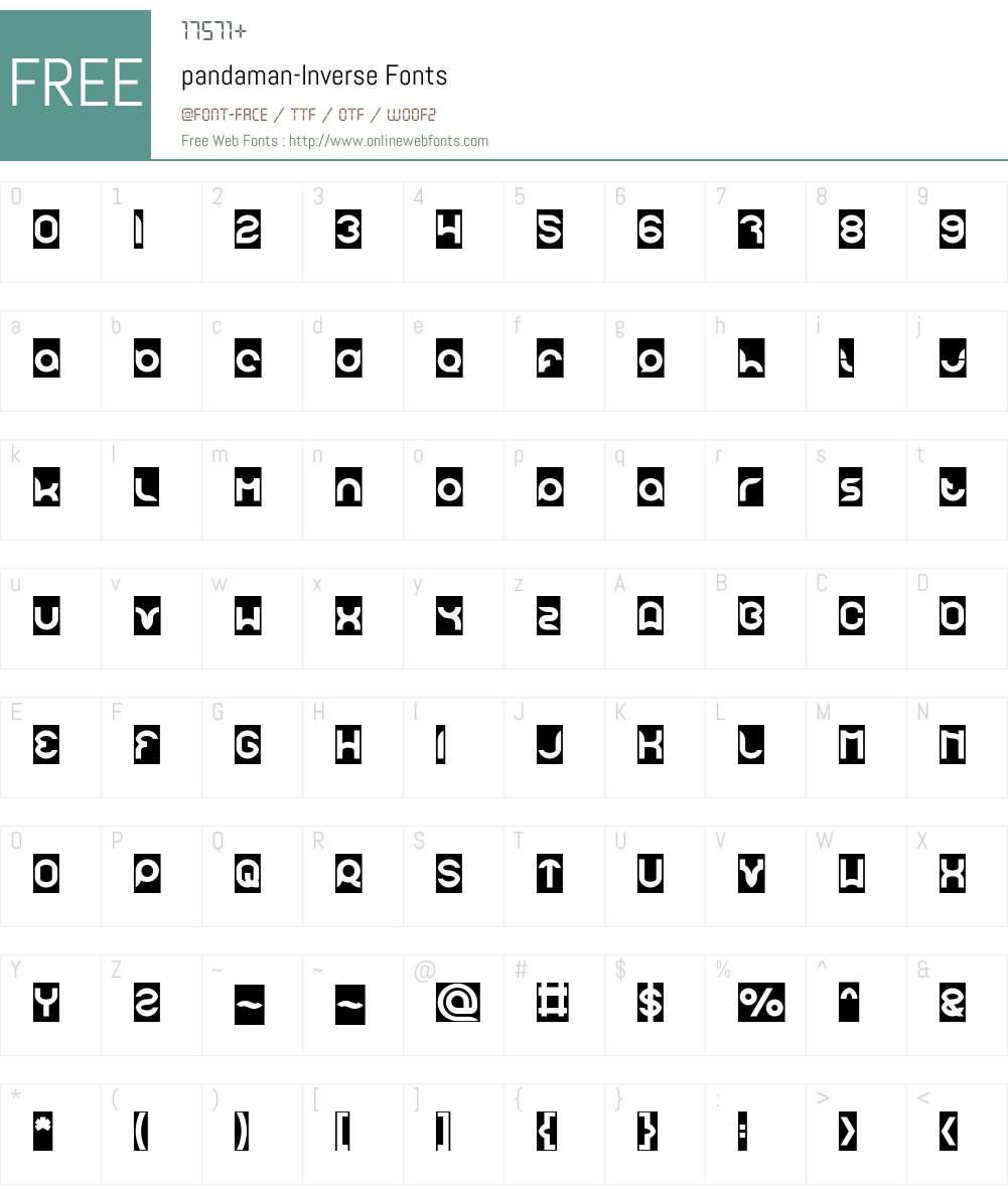 pandaman-Inverse Font Screenshots