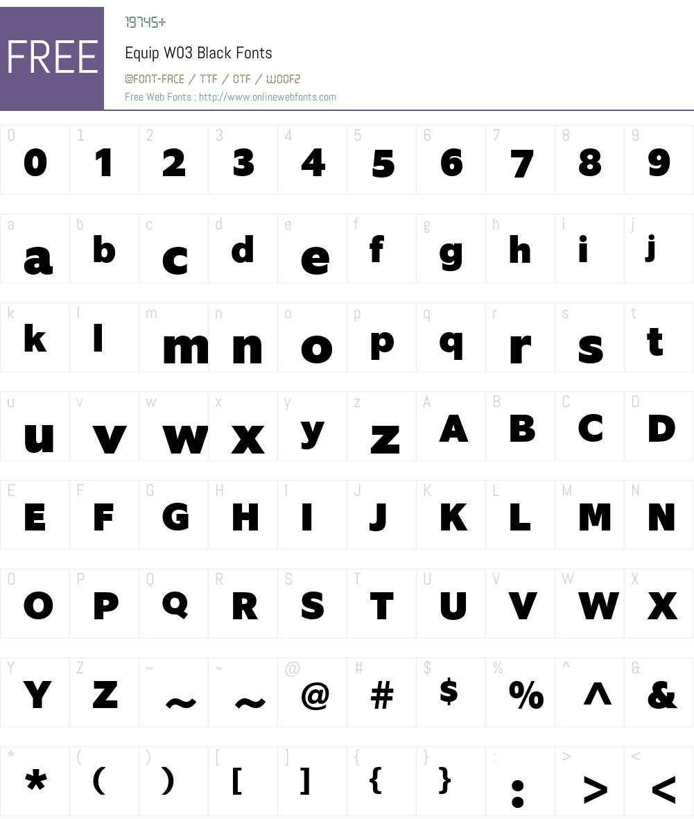 EquipW03-Black Font Screenshots