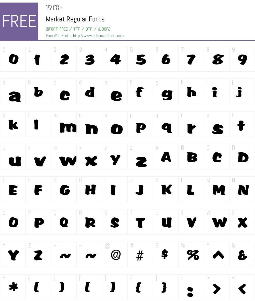 Market Font Screenshots
