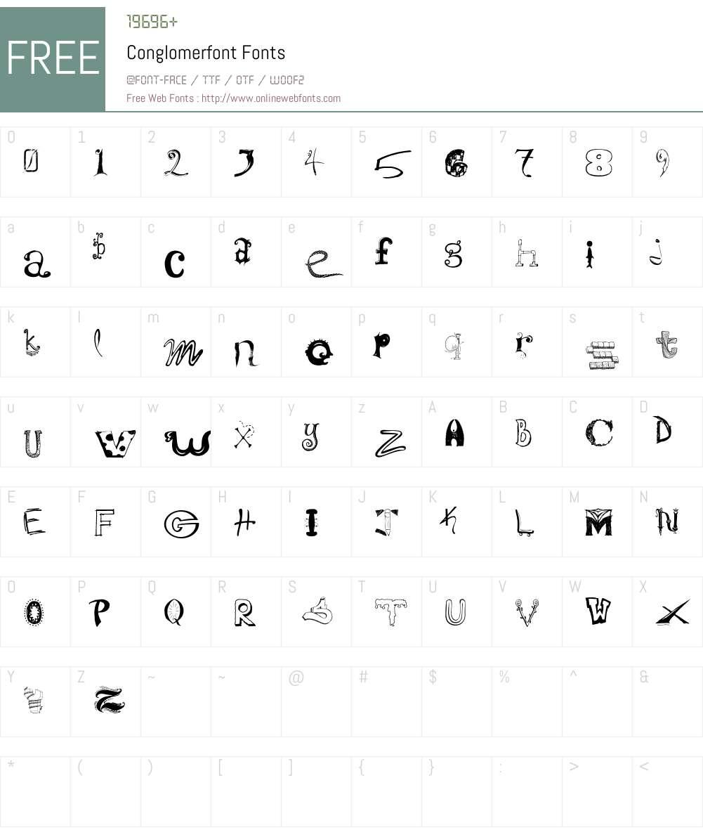 Conglomerfont Font Screenshots