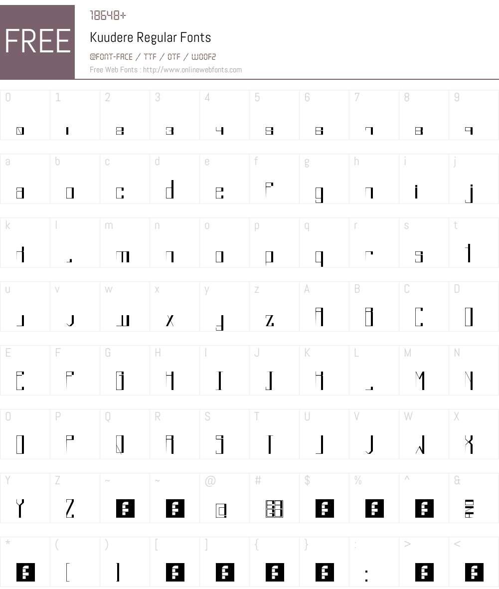 Kuudere Font Screenshots