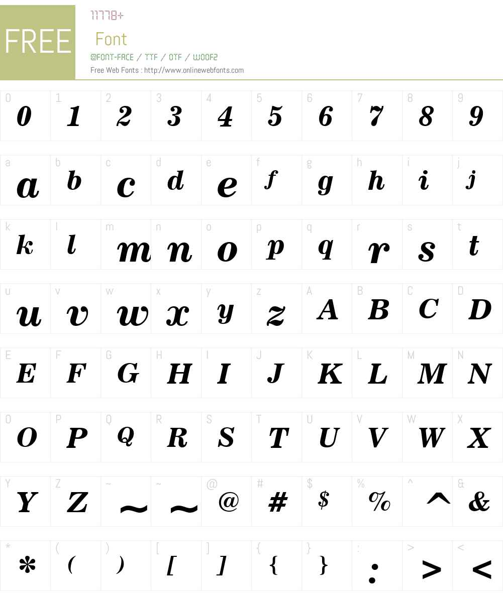 News702W01-BoldItalic Font Screenshots