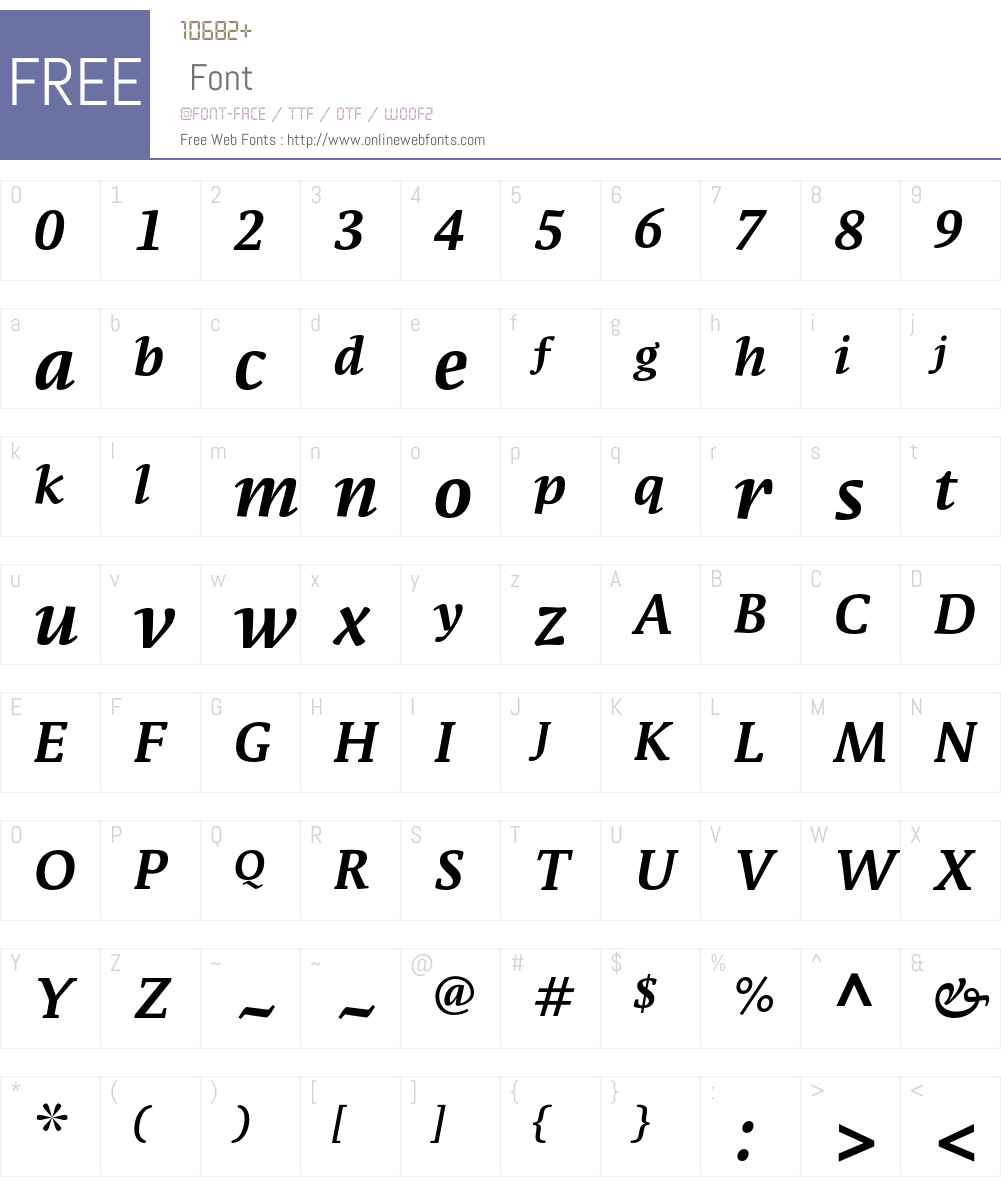 ParableLF-BoldItalic Font Screenshots