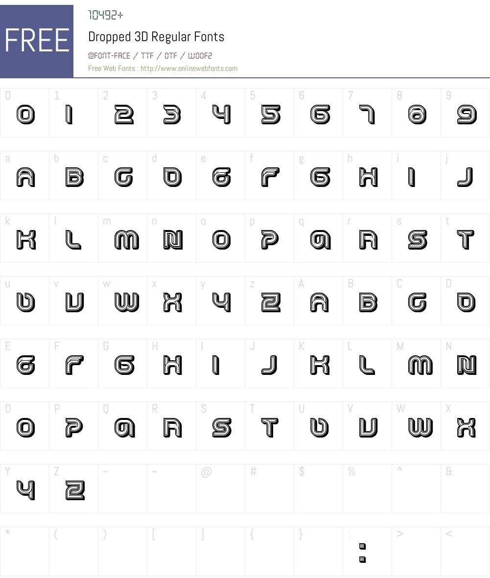 Dropped 3D Font Screenshots