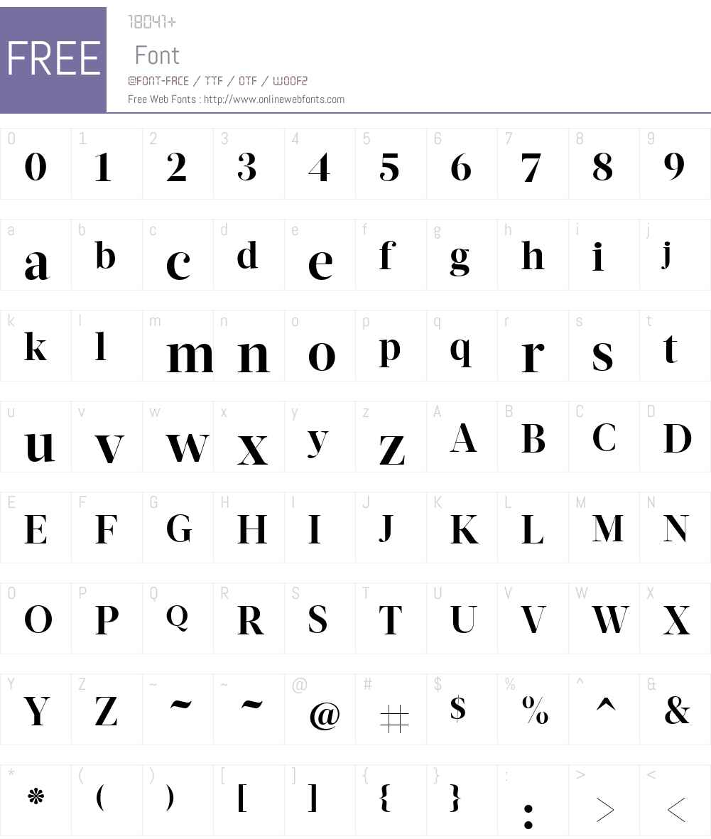 ActaDisplayW01-Bold Font Screenshots