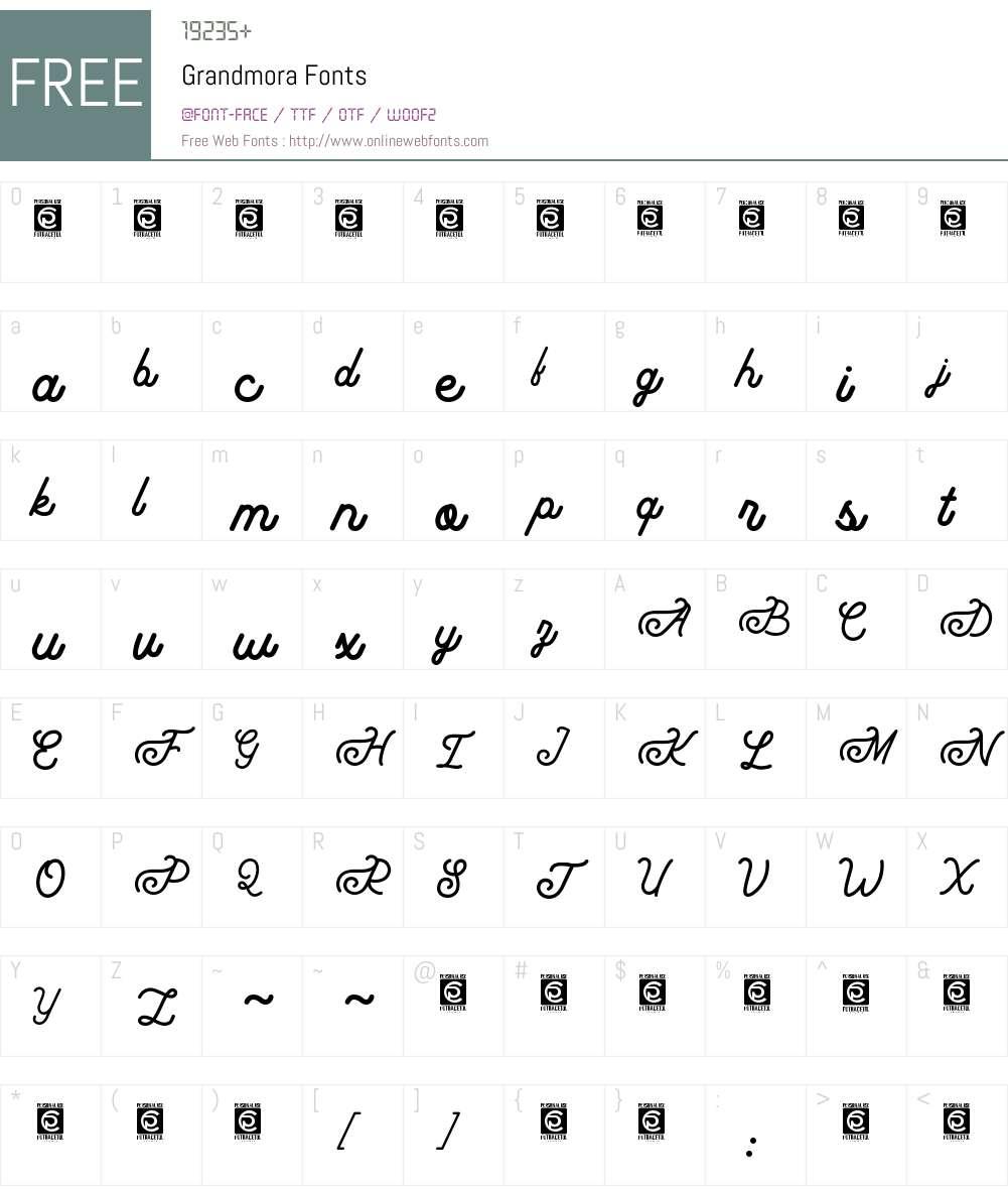 Grandmora Font Screenshots