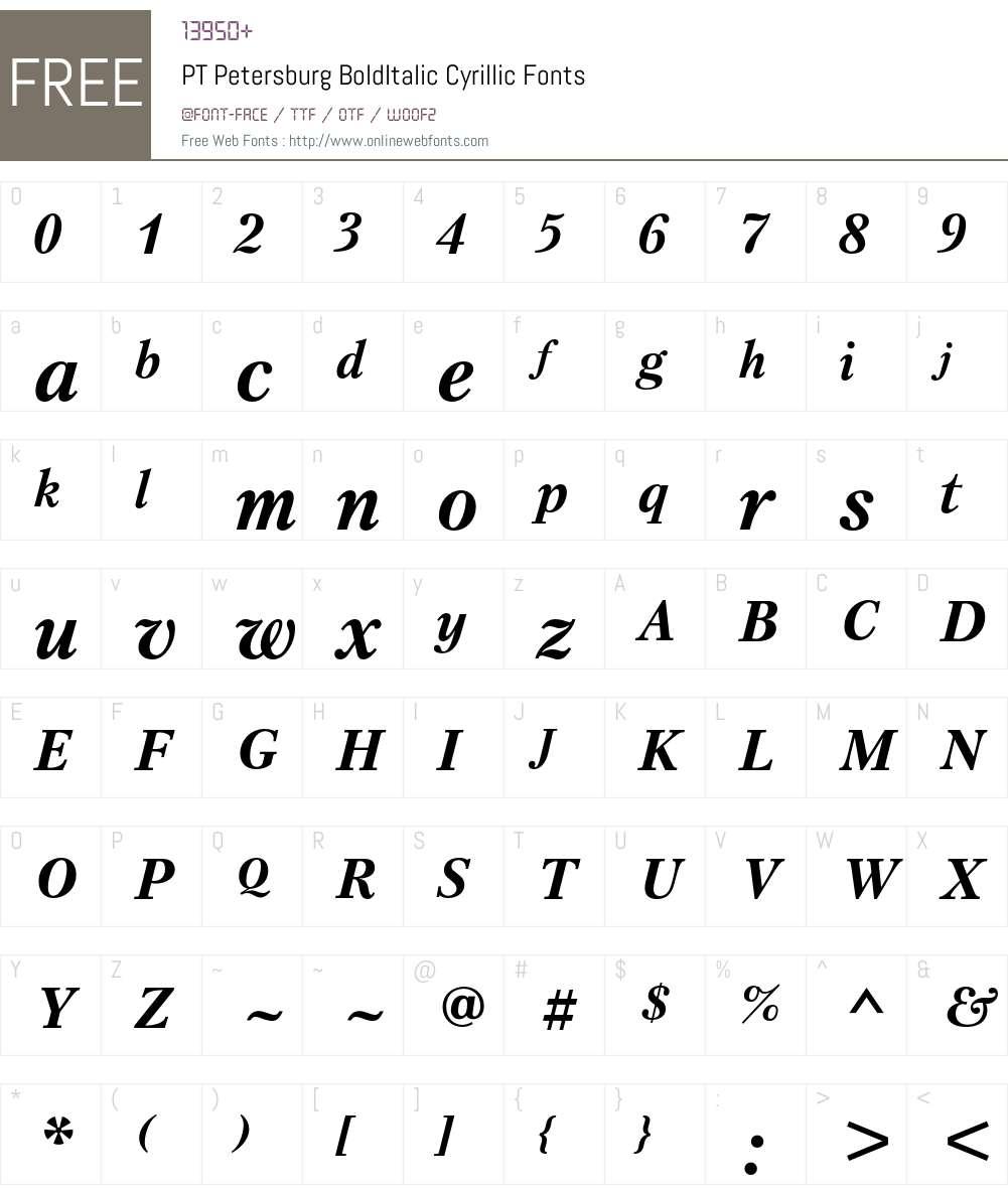 PetersburgC Font Screenshots
